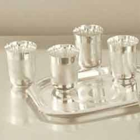 glass set  Silver plated glass set